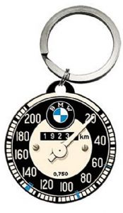 BMW Speedometer round metal keyring  Licensed product (na)
